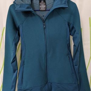 NWOT under armour hooded zip up turquoise XS